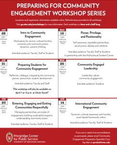 Community Engagement Workshop Series